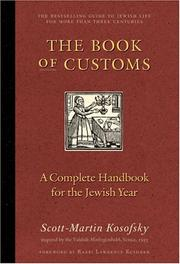 Cover of: The Book of Customs | Scott-martin Kosofsky