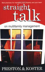 Cover of: Straight Talk on Multifamily Management | Gabriele Preston and Jennifer Koster