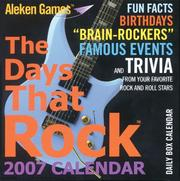 Cover of: The Days That Rock(TM) 2007 Calendar | Hal Leonard Corp.