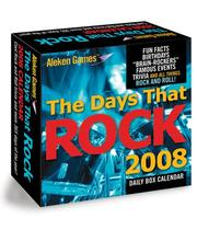 Cover of: The Days That Rock 2008 Calendar | Aleken Games