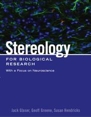 Cover of: Stereology for biological research