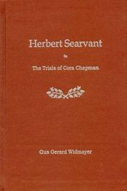 Cover of: Herbert Searvant in the Trials of Cora Chapman