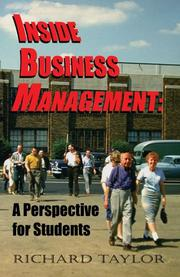 Cover of: Inside Business Management