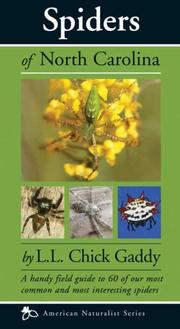 Cover of: Spiders of North Carolina | L. L. Chick Gaddy