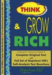 Cover of: Think and Grow Rich - Complete Original Text
