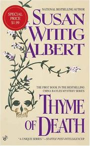 Cover of: Thyme of Death (China Bayles Mystery)