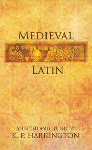 Cover of: Medieval Latin | K. P. Harrington