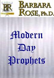 Cover of: Modern Day Prophets | Barbara Rose