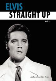 Cover of: Elvis-Straight Up, Volume 1, By Joe Esposito and Joe Russo | Joe Esposito
