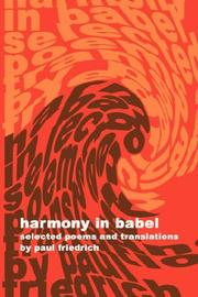 Cover of: Harmony in Babel