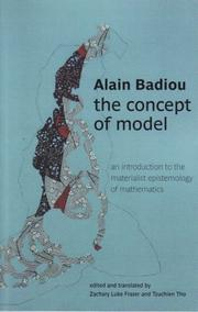 Cover of: Concept de modele: an introduction to the materialist epistemology of mathematics