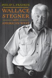 Cover of: Wallace Stegner and the American West