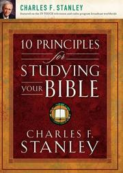 Cover of: 10 Principles for Studying Your Bible | Charles F. Stanley