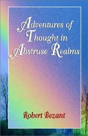 Cover of: Adventures of Thought in Abstruse Realms | Robert Bezant