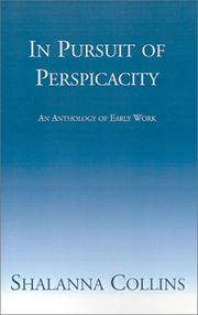 Cover of: In Pursuit of Perspicacity