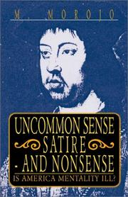 Cover of: Uncommon Sense Satire - And Nonsense