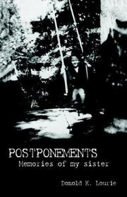 Cover of: Postponements