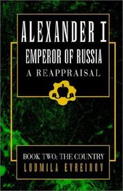 Cover of: Alexander the First, -Emperor of Russia book 2