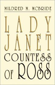 Cover of: Lady Janet, Countess of Ross | Mildred M. McBride