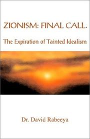 Cover of: Zionism: Final Call