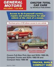 Cover of: GM Trucks, SUVs, & Compact Vans 1980-99 (Retail Box) (Total Car Care) | John Harold Haynes