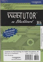 Cover of: Essentials Of Pharmacology For Health Occupations: Web Tutor On Blackboard