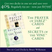 Cover of: The Prayer of Jabez and Secrets of Vine