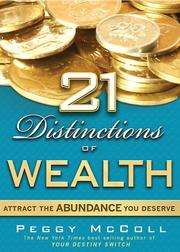 Cover of: 21 Distinctions of Wealth