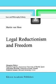 Cover of: Legal Reductionism and Freedom (Law and Philosophy Library)