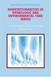 Nonstationarities in Hydrologic and Environmental Time Series (Water Science and Technology Library) by A.R. Rao, K.H. Hamed, Huey-Long Chen