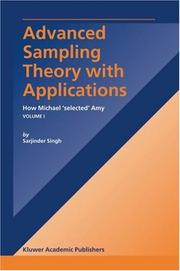Cover of: Advanced Sampling Theory with Applications  | Sarjinder Singh