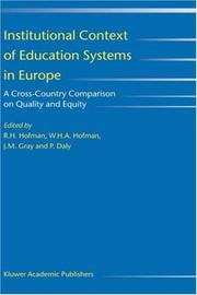 Cover of: Institutional context of education systems in Europe |