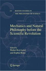 Cover of: Mechanics and Natural Philosophy before the Scientific Revolution (Boston Studies in the Philosophy of Science) |
