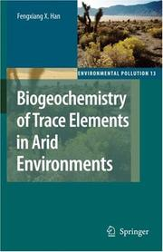 Cover of: Biogeochemistry of Trace Elements in Arid Environments (Environmental Pollution) (Environmental Pollution)
