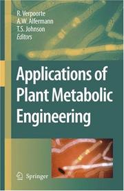Cover of: Applications of Plant Metabolic Engineering |