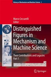 Cover of: Distinguished Figures in Mechanism and Machine Science