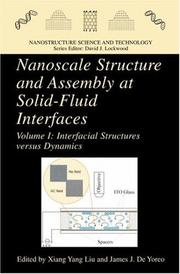Cover of: Nanoscale Structure and Assembly at Solid-Fluid Interfaces