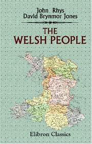 Cover of: The Welsh People