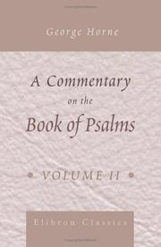 Cover of: A Commentary on the Book of Psalms