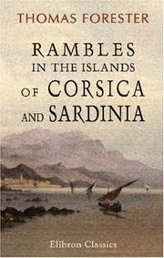Cover of: Rambles in the islands of Corsica and Sardinia