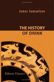 Cover of: The history of drink