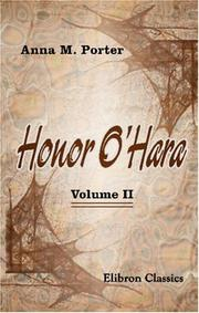 Cover of: Honor O/Hara | Anna Maria Porter