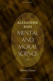 Cover of: Mental and Moral Science