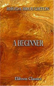 Cover of: A beginner