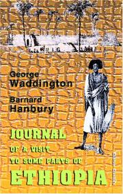Cover of: Journal of a visit to some parts of Ethiopia