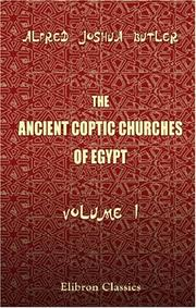 Cover of: The Ancient Coptic Churches of Egypt | Butler, Alfred Joshua