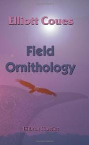 Cover of: Field ornithology