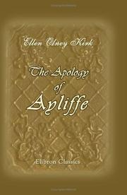 Cover of: The Apology of Ayliffe | Ellen Olney Kirk