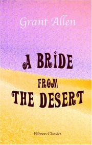 Cover of: A Bride from the Desert