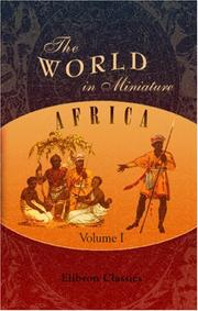 Cover of: The World in Miniature. Africa | Author unknown